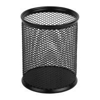 Підставка для ручок Axent round 80х80х100мм, wire mesh, black (2110-01-A)
