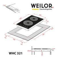 Варильна поверхня WEILOR WHC 321 BLACK Diawest
