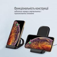 Зарядний пристрій ColorWay Wireless Stand 15W Black (CW-CHW31Q-BK) Diawest