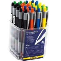 Ручка кулькова Buromax retractable JOBMAX, 0.7 мм (BM.8202) Diawest