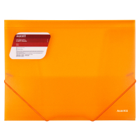 Папка на резинках Axent A4 600 мкм Transparent orange (1501-25-A) Diawest