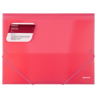 Папка на резинках Axent A4 600 мкм Transparent red (1501-24-A) Diawest