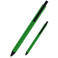 Ручка кулькова Axent Snake зелена автоматична Синя 0.5 мм (AB1092-04-A) Diawest