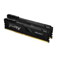Модуль пам'яті для комп'ютера DDR4 16GB (2x8GB) 3733 MHz Fury Beast Black HyperX (Kingston Fury) (KF437C19BBK2/16) Diawest