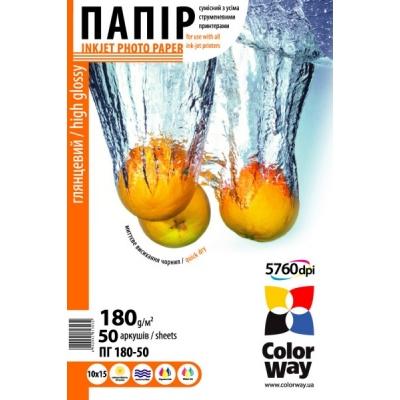 Бумага для принтера/копира ColorWay 10x15 (ПГ180-50) (PG1800504R)