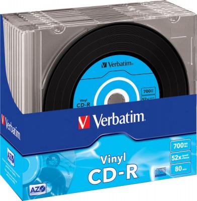 Диск Verbatim 700Mb 52x Slim case Vinyl AZO (43426)