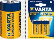 Батарейка Varta C bat Alkaline 2шт LONGLIFE EXTRA (04114101412) Diawest