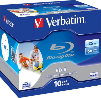 Диск Verbatim BD-R Printable 25GB 6x Jewel Case 10шт (43713)