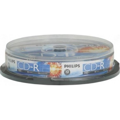Диск Philips 700Mb 52x Cake box 10шт Extra (43437)