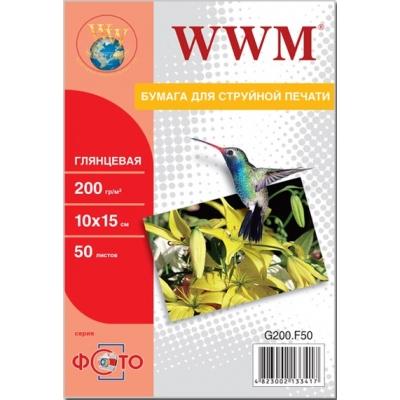 Бумага для принтера/копира WWM 10x15 (G200.F50)