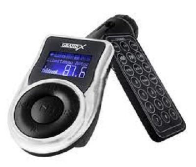 FM модулятор Grand-X CUFM77GRX black SD/USB (CUFM77GRX)