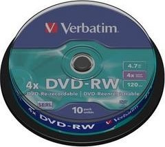 Диск Verbatim 4.7Gb 4x Cake box 10шт (43552)