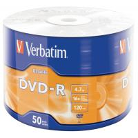 Диск Verbatim 4.7Gb 16X Wrap-box 50pk Extra MATT SILVER (43791)