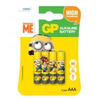 Батарейка AAA LR03 Alcaline Minions * 4 (GP24AUYOY-2UE4)