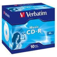 Диск Verbatim 700Mb 16x Jewel Case 10 Pack Music (43365)