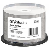 Диск Verbatim 700Mb 52x Cake box Printable (43745)